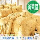鋪棉床包 100%精梳棉 全鋪棉床包兩用被四件組 雙人特大6x7尺 king size Best寢飾 9101-2