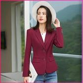 西裝外套 春裝新款韓版小西裝女外套短款時尚修身大碼黑色休閒西服上衣 新年慶