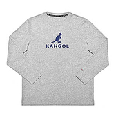 KANGOL 中性款灰色圓領長袖上衣-NO.6951100312