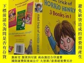 二手書博民逛書店a罕見hat trick of horrid Henry 3 books in l:l中可怕的亨利3書的帽子戲法奇