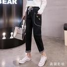 牛仔褲子女 2020年新款秋冬裝初中高中學生韓版寬鬆百搭加絨長褲 YN3579『美鞋公社』