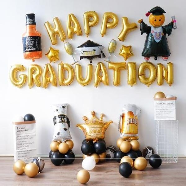 DIY 氣球 畢業季 鋁箔氣球 佈置會場 畢業生 教師 畢業證書 交換禮物 派對 啤酒杯 香檳【塔克】