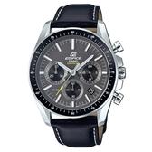 CASIO EDIFICE 沉穩紳士藍寶石鏡面皮帶錶-黑面(EFB-570L-1A)
