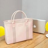 姬佧商務休閒手提包尼龍布包女士公文包大容量資料袋單肩包電腦包