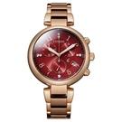 CITIZEN 星辰 光動能 亞洲限定 計時手錶 FB1453-55W 紅