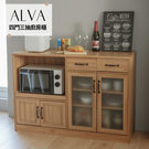 餐櫃 電器櫃 餐廚櫃 廚房架 下櫃【P0019】Alva四門三抽廚房櫃 完美主義