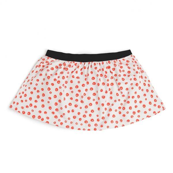 有機棉 裙子 荷蘭 CarlijnQ 橘紅點點短裙 AW16-DO-SK