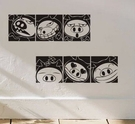 ►搞怪小豬壁貼紙 臥室客庁歐式牆貼 可移除 自粘自貼牆紙【A3101】
