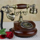 家用電話仿古電話機復古家用電話創意實木電話機美式電話機 爾碩數位3c