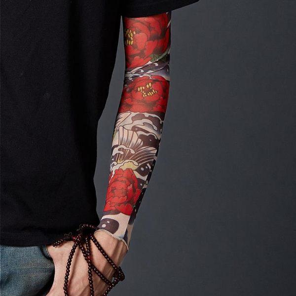 冰爽袖防曬袖套 女夏花臂紋身袖套刺青 男士戶外騎行護臂開車手臂套 九週年全館柜惠