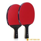 桌球拍專業乒乓球拍單拍專業級碳素底板九星直拍橫拍【小橘子】