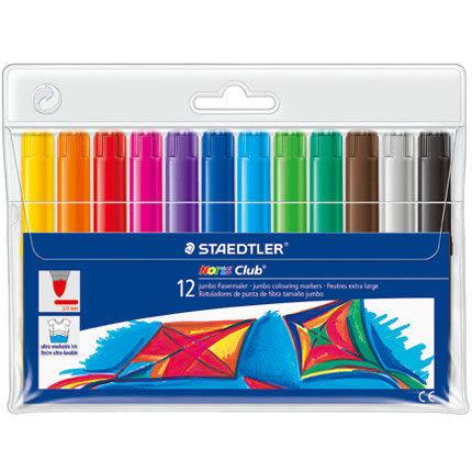 [奇奇文具]【施德樓 STAEDTLER 彩繪筆】 施德樓 MS340WP12 快樂學園 加寬型環保彩繪筆/彩色筆 (12色)