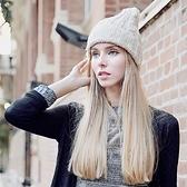 羊毛帽-韓版保暖親膚瘦臉男女針織帽7色73id44[時尚巴黎]