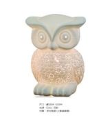 【燈王的店】療癒系列 透光陶瓷陶瓷貓頭鷹 (大隻) 桌燈 ☆ 11228/T1