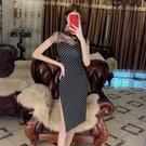 改良旗袍 改良版新式旗袍2020夏裝小香風新款復古氣質年輕款少女波點連衣裙