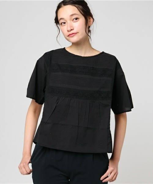 ❖ Hot item ❖ 蕾絲花邊寬版短袖上衣 (提醒➯SM2僅單一尺寸) - Sm2