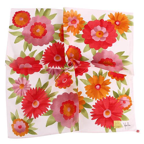 Sybilla 大花花朵圖案純綿帕領巾(紅色)989164-95