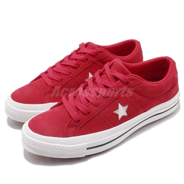 Converse One Star 紅 白 皮革鞋面 星星 經典款 基本款 男鞋 女鞋【ACS】 162614C