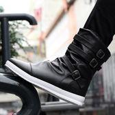 冬季正韓馬丁靴男靴加絨棉靴男士短靴高筒皮靴中筒青少年雪地馬靴【好康八九折下殺】