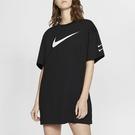 【雙12折後$1480】NIKE NSW 黑色 短袖 裙子 長版 大LOGO 休閒 運動 女款 CJ3830-010