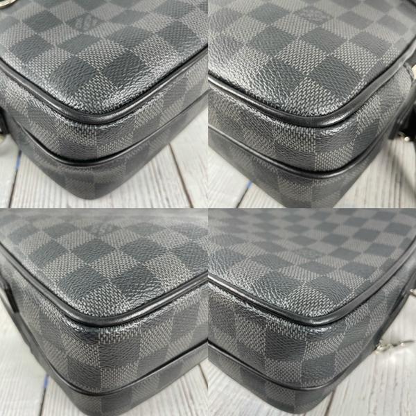 BRAND楓月 LOUIS VUITTON LV N40087 Trocadéro NM PM 黑色棋盤 信差包 斜背男包