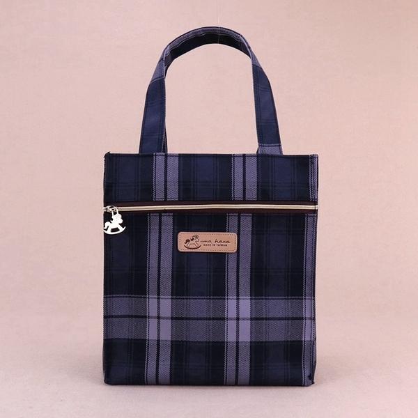 雨朵防水包 u401-14 格紋朴荷提袋(餐袋)