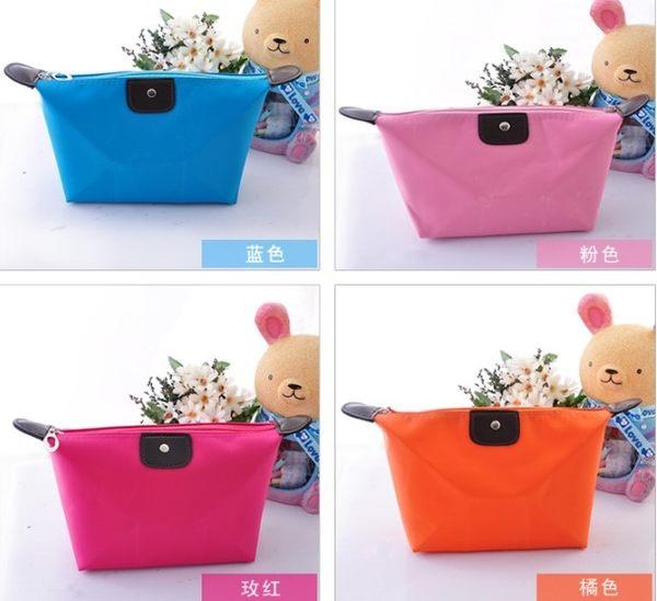 [協貿國際]  韓國可愛簡約大化妝包可折疊收納包 (5個價)
