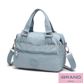 iBrand 輕盈素色防潑水尼龍手提斜側背包(多色任選) MDS-8515