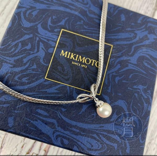 BRAND楓月 MIKIMOTO K18WG 珍珠 銀項鍊 珍珠項鍊 飾品 配件