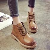 降價兩天 2020春秋季ins新款英倫風網紅小短靴子百搭韓版短筒chic馬丁靴女