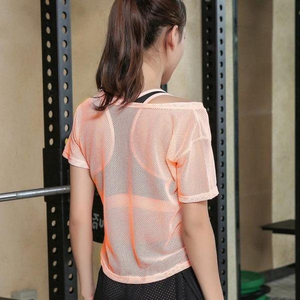 夏季女跑步運動上衣大碼網健身服健身房三件套速干短褲瑜伽服套裝 【korea時尚記】