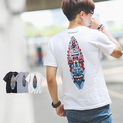 T恤 口袋造型搞怪部落圖騰短T【NB0253J】