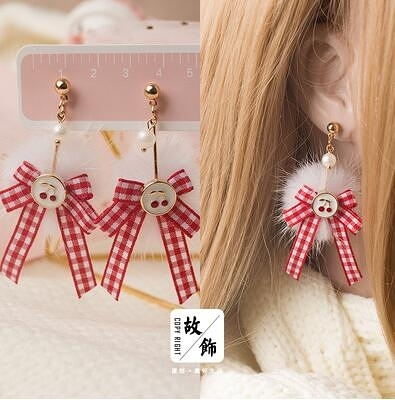 新年耳飾 新年紅色系耳環套裝集合 日系韓版簡約個性耳釘耳洞【快速出貨八折下殺】