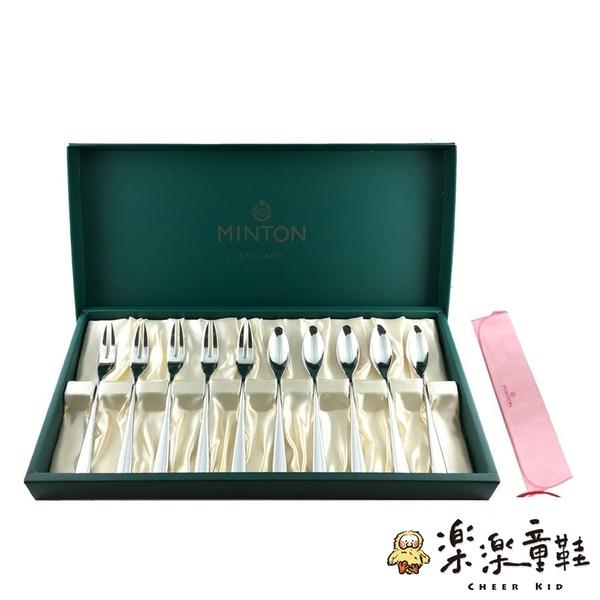 【樂樂童鞋】MINTON 現貨日本製 茶匙&蛋糕叉子 10入 附拭巾 J011 - 日本製 甜點叉 蛋糕叉 茶匙