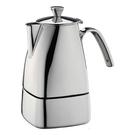 金時代書香咖啡  CafeDeTiamo 505 方型速拆 不鏽鋼摩卡壺 (六杯份) 電磁爐可用  HA2288