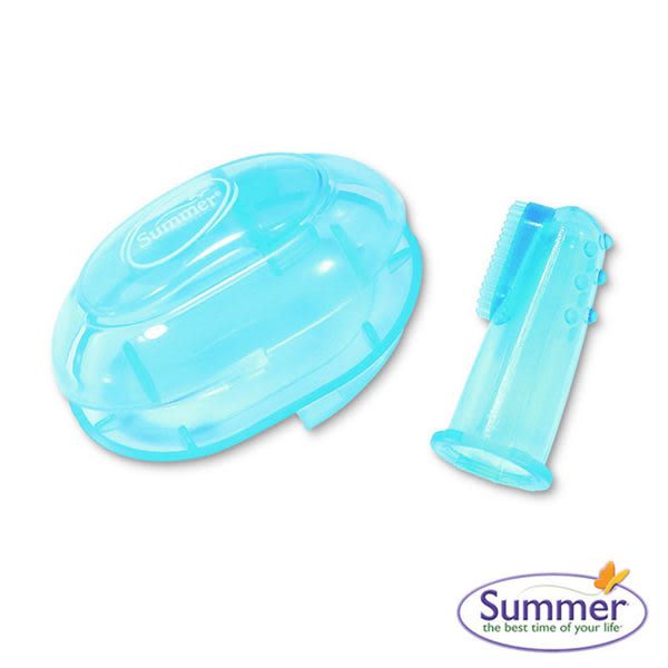 美國 Summer Infant Summer 指套型牙刷(含盒) - 藍