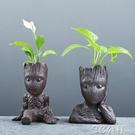 花盆 當初新款綠蘿水培玻璃透明水養花瓶插花容器多肉花盆禪意裝飾擺件 3C公社