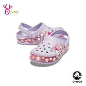 Crocs卡駱馳 洞洞鞋 中小童 趣味學院獨角獸 園丁鞋 防水布希鞋 A1737#紫色◆OSOME奧森鞋業