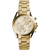 Michael Kors 羅馬假期三眼計時腕錶-金/36mm MK5798