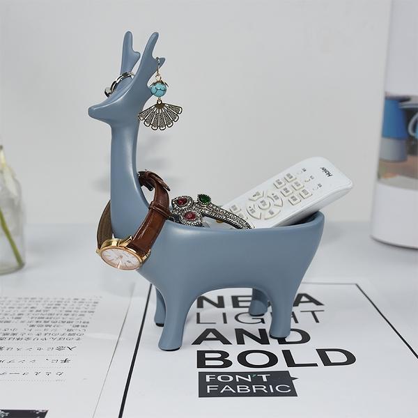 首飾架 簡約鹿首飾架家用玄關擺件掛手鏈架子手表鑰匙收納盒飾品展示道具【快速出貨八折鉅惠】