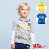 JJLKIDS 男童 英字假兩件舒適純棉長袖T恤上衣(3色)