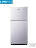 冰箱家用小型冷藏冷凍租房用宿舍迷你冰箱單人節能雙開門二人省電 京都3C YJT