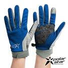 PolarStar 配色抗UV排汗短手套『深藍』P21516 戶外.防曬手套.防風手套.機車手套.騎車手套.開車手套