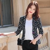 小西裝外套女春夏季新款韓版復古時尚豹紋英倫風休閑西服上衣Mandyc
