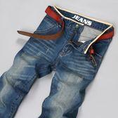 牛仔直筒褲男韓式修身顯瘦青年休閒直筒寬鬆潮流復古大尺碼長褲子男