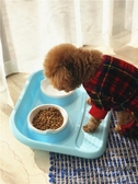 雙碗防漏食濺水狗盆貓碗防滑餐具寵物用品【時尚大衣櫥】