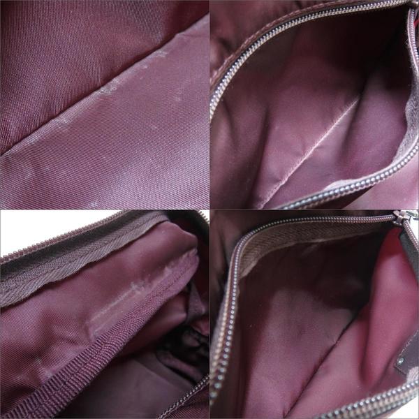 PRADA 普拉達 酒紅色尼龍化妝包 收納袋 Nylon Pouch 1N1394 【二手名牌BRAND OFF】
