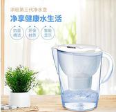 凈水壺家用廚房直飲自來水過濾器便攜3.5L凈水杯過濾水壺