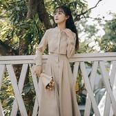 新款拜年裙收腰顯瘦氣質內搭打底裙文藝復古連身裙長裙女秋冬 韓國時尚週