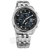 CITIZEN 星辰表 / AT9031-52L / 光動能 電波時計 藍寶石水晶 日期 防水200米 不鏽鋼手錶 深藍 44mm